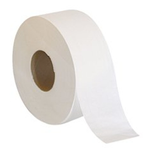 Toilet Tissue Pacific Blue® White 2-Ply Jumbo Size Cored Roll Continuous Sheet 3-1/5 Inch X 1000 Foot