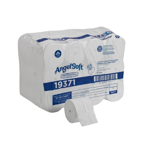 Toilet Tissue Angel Soft® Professional Series Compact White 2-Ply Standard Size Coreless Roll 750 Sheets 3-4/5 X 4-1/20 Inch
