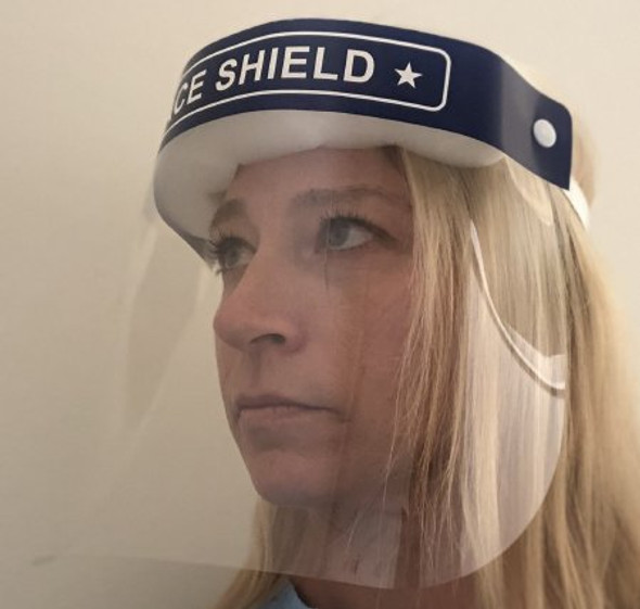 Face Shield One Size Fits Most Full Length Anti-fog Disposable NonSterile