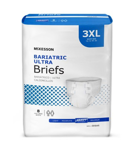 Adult Incontinent Brief Ultra Plus Bariatric Tab Closure 3X-Large Disposable Heavy Absorbency