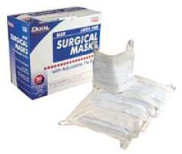 Surgical Mask Dukal® Pleated Earloops One Size Fits Most Blue NonSterile ASTM Level 1
