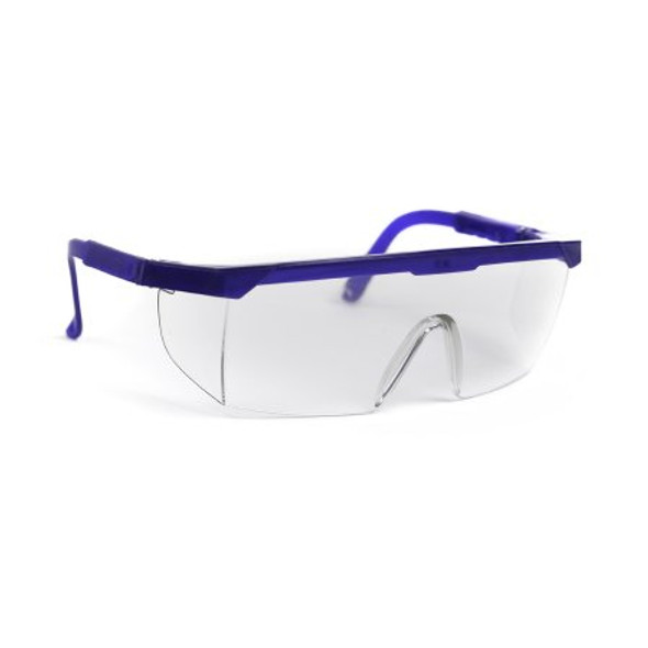 Protective Glasses McKesson Brand Side Shield Clear Tint Blue / Clear Frame Over Ear One Size Fits Most