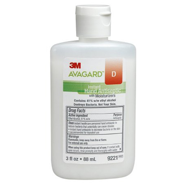 Hand Sanitizer 3M™ Avagard™ D 3 oz. Ethyl Alcohol Gel Bottle