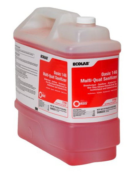 Oasis® 146 Multi-Quat Sanitizer Surface Disinfectant Ammoniated Liquid Concentrate 2.5 gal. Jug Alcohol Scent NonSterile