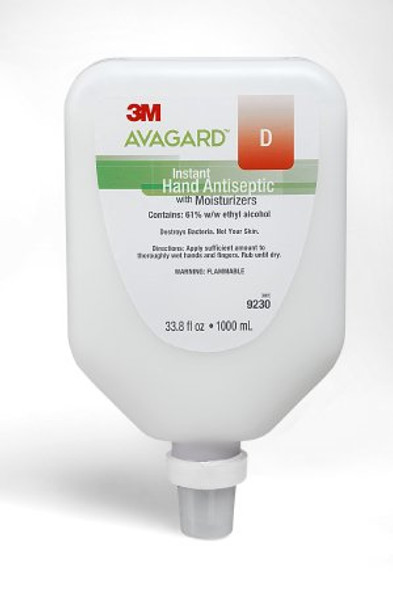 Hand Sanitizer 3M™ Avagard™ D 1,000 mL Ethyl Alcohol Gel Dispenser Refill Bottle CS/5