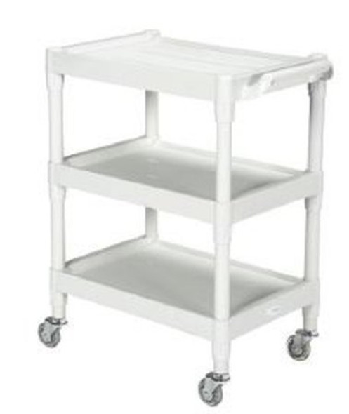 Utility Cart McKesson Plastic 17.5 X 25.25 X 35 Inch Light Gray Shelves Outside: 25-1/4 X 17-1/2 Inch, Shelves Inside Flat Space: 15.88 X 15.67 Inch