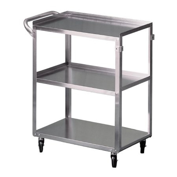 Utility Cart McKesson Stainless Steel 32.63 Inch Stainless Steel 15-1/2 X 24 Inch