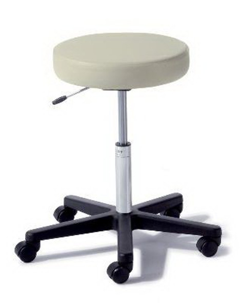 Air Lift Stool Ritter® 272 Value Series Backless Air Lift, Pneumatic Height Adjustment, Single Lever 5 Casters Stone