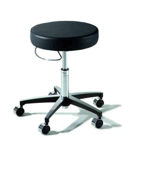 Air Lift Stool Ritter® 276 Classic Series Backless Air Lift, Pneumatic Height Adjustment, 8 Inch Hand Ring 5 Casters Latte