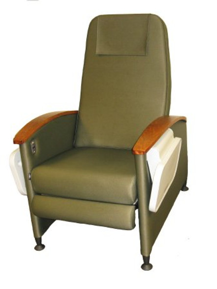 Clinical Recliner Designer Care Cliner™ Gray 3 Inch Caster