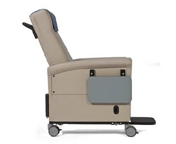 Bariatric Transport Manual Recliner Ascent XL 660 Series Natural 4 Inch Twin Wheel Casters