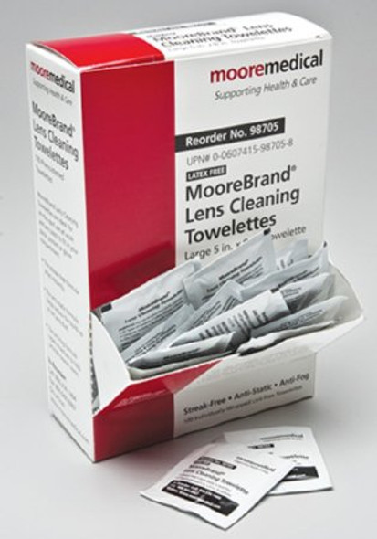 100 count McKesson Lens Cleaning Wipe