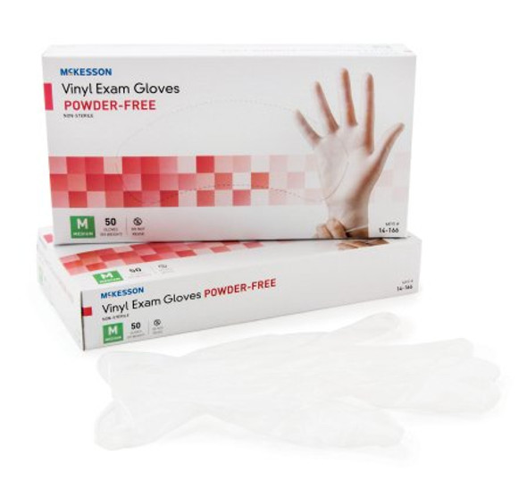 Exam Glove NonSterile Vinyl Clear 4.3 mil 50 Count