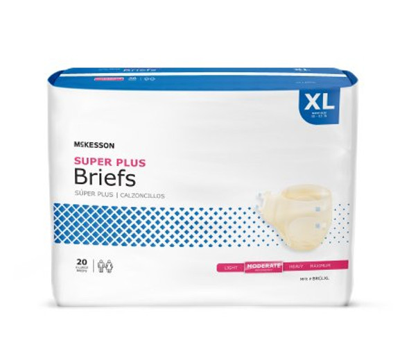 Brief Super Plus Tab Closure Moderate Absorbency (S, M, L, XL, XXL)
