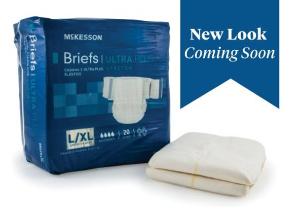 Adult Incontinent Brief Ultra Plus Stretch Tab Closure Disposable Heavy Absorbency
