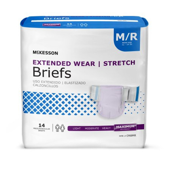 Brief Extended Wear Tab Closure Heavy Absorbency (M/R, L/XL)
