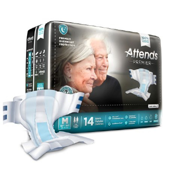 Adult Incontinent Brief Premier Tab Closure Disposable Heavy Absorbency