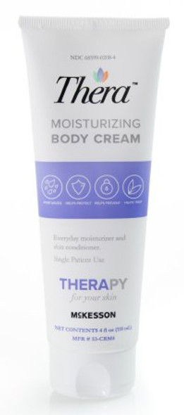 Hand and Body Moisturizer 4 oz. Tube Scented Cream CHG Compatible