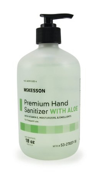 Hand Sanitizer with Aloe Premium Ethanol Gel Bottle/Pump