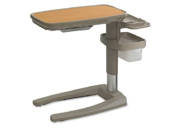 Overbed Table With Vanity Single-Top Infinite Stop 27 to 43-3/4 Inch Height Adjustment