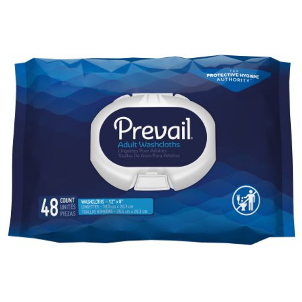 576 count Personal Wipe Prevail® Soft Pack Aloe / Vitamin E Scented 48 Count