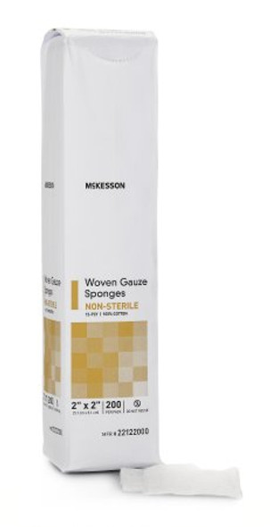 Gauze Sponge McKesson Cotton Square NonSterile
