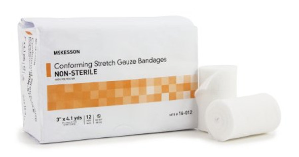 Conforming Bandage McKesson Polyester 3 Inch X 4-1/10 Yard Roll Shape NonSterile
