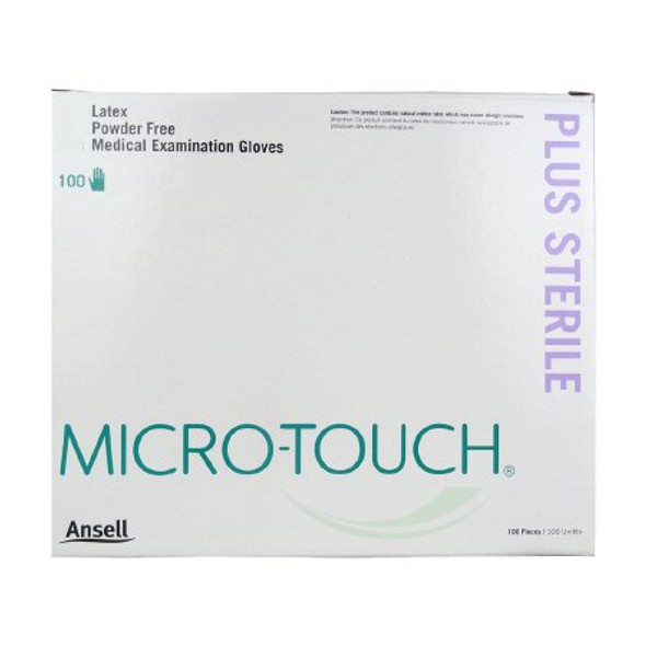 Exam Glove Micro-Touch® Plus Small Sterile Single Latex Standard Cuff Length Fully Textured Ivory Not Chemo Approved