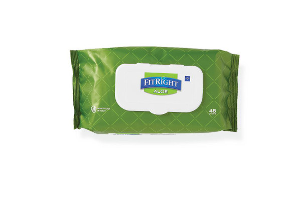Aloe Quilted Personal Cleansing Wipes Fragrance Free 48 pack