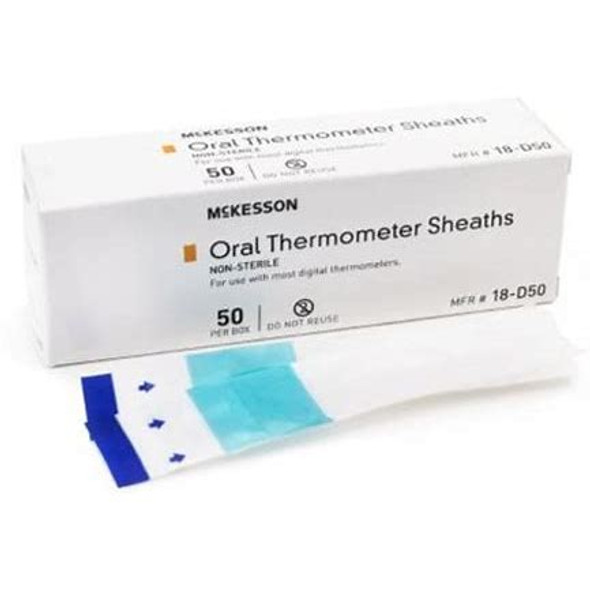 Oral Thermometer Probe Cover McKesson For Digital Thermometer 50 per Box