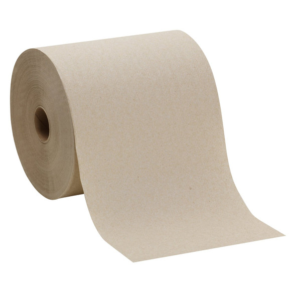 "Georgia Pacific Hard Roll of 1 Ply Brown Paper Towels 7-7/8"" Wide, 800' Roll Length"