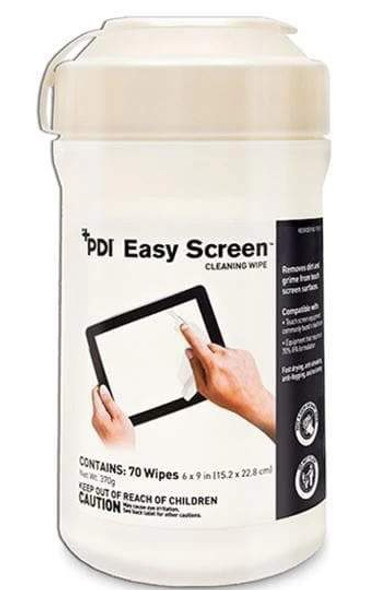 Surface Cleaner Easy Screen® 70% Isopropyl Alcohol  Wipe 70 Count NonSterile Canister Disposable Alcohol scent