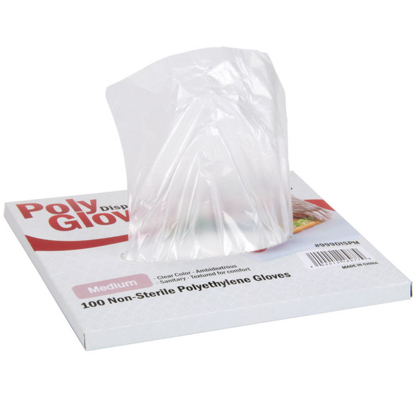 Choice Medium Disposable Food Service Poly Gloves (BX/100)