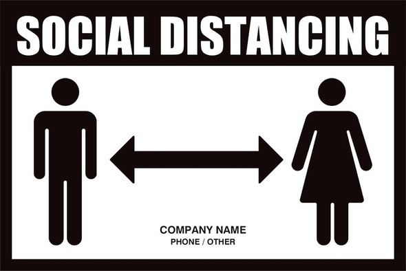 Custom Sign 12' by 18' (Social Distancing)