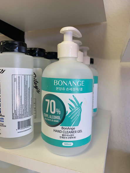 Bonange 70% Ethyl Alcohol Hand Cleaner Gel 16.9oz