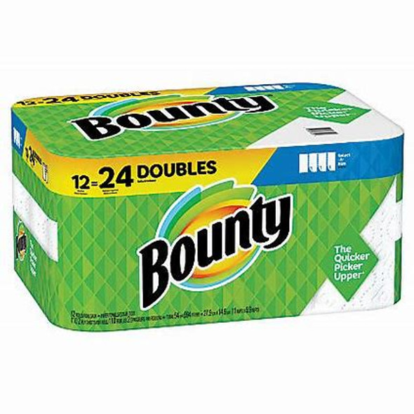"Bounty Select-A-Size 2-Ply Paper Towels, 5-13/16"" x 11"", White, 110 Sheets Per Roll, Pack Of 12 Double Rolls"