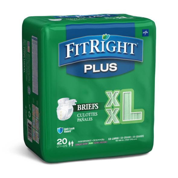 FitRight Plus Incontinence Briefs