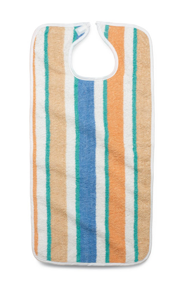 "Terry Cloth Striped Clothing Protectors, Pastel Stripes 17""x34"", 1Ea"