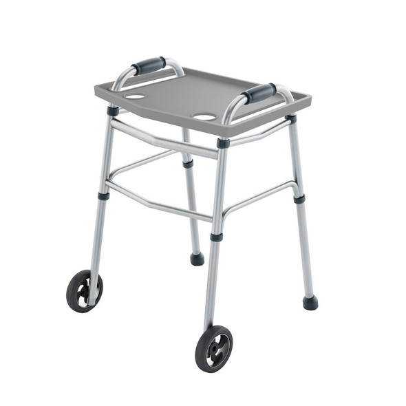 Walker Tray with 2 Cup Holders in Gray