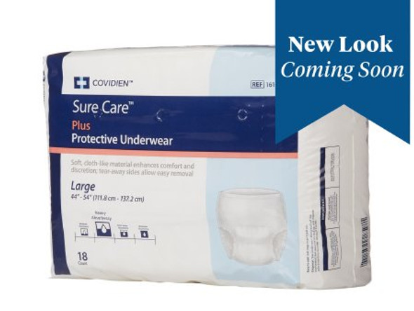 Unisex Adult Absorbent Underwear Sure Care™ Plus Pull On with Tear Away Seams Large Disposable Heavy Absorbency