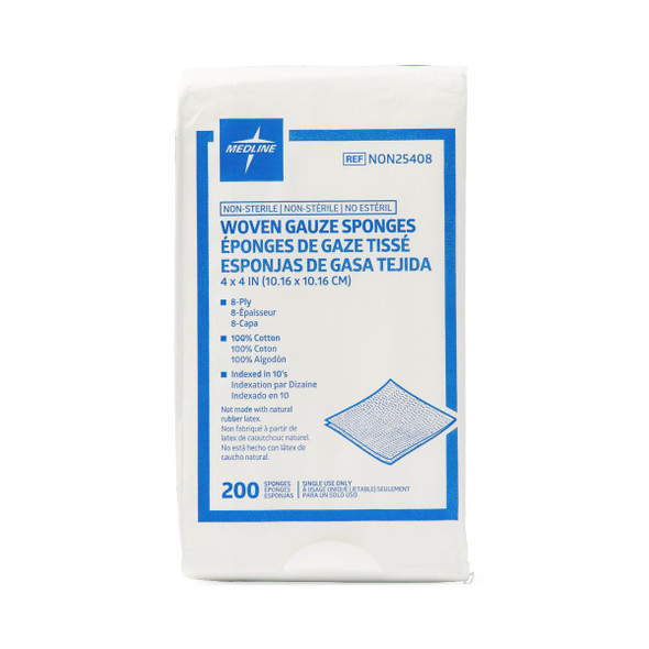 Nonsterile 100% Cotton Woven Gauze Sponges