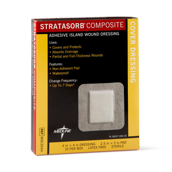 Stratasorb Waterproof Adhesive Island Wound Dressings, 1 EA
