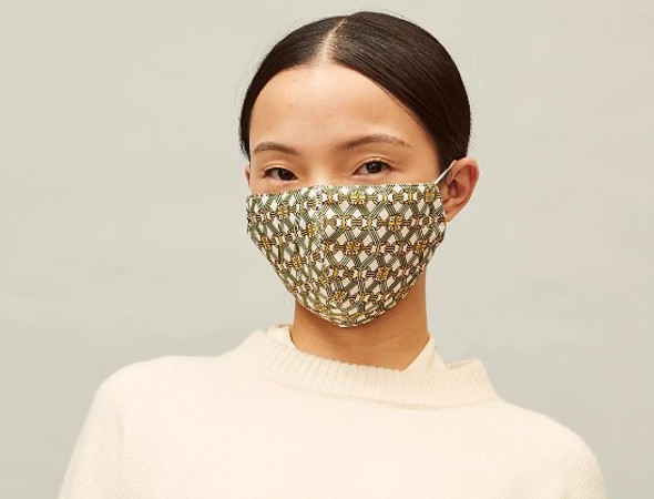 Tory Burch Printed Face Mask