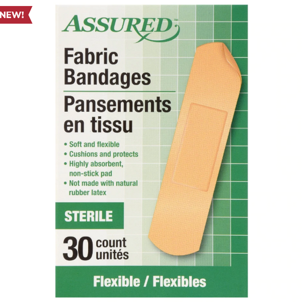 Assured Fabric Bandages, 30-ct. Boxes