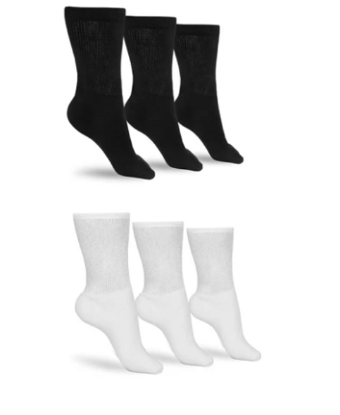 Diabetic Confort Socks For Women's , Fits Shoe Sizes 5-9