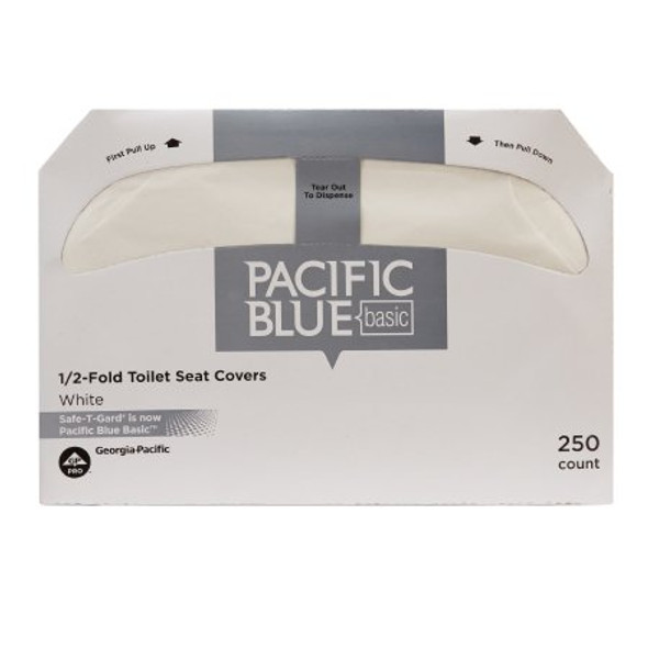 Toilet Seat Cover Safe T Gard™ Half Fold 14-1/2 X 17 Inch