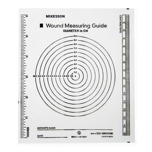 Wound Measuring Guide McKesson 5 X 7 Inch Clear Plastic NonSterile