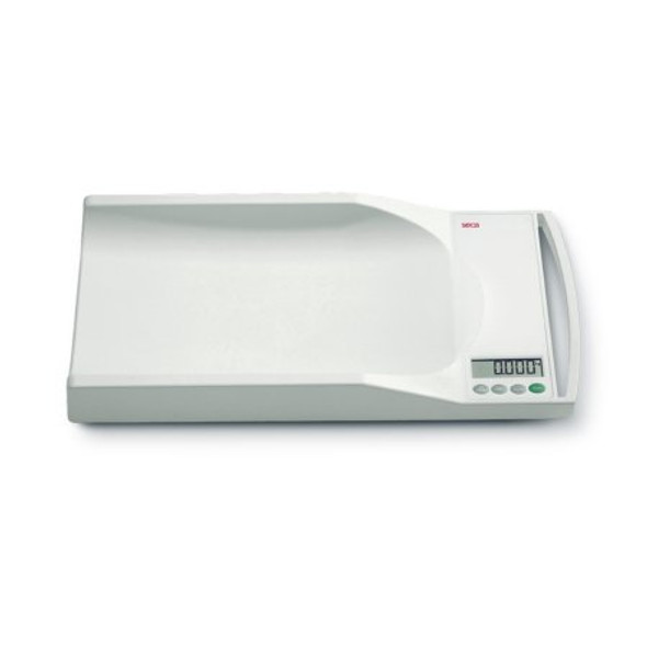 Digital Baby Scale w/ Built-in Handle seca® 334 Digital LCD Display 44 lbs. Capacity White AC Adapter / Battery Operated