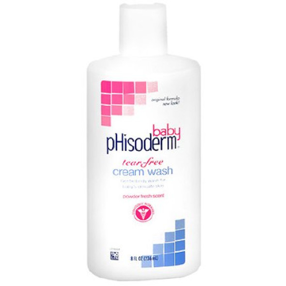 Baby Soap pHisoderm® Baby Cream 8 oz. Bottle Powder Scent
