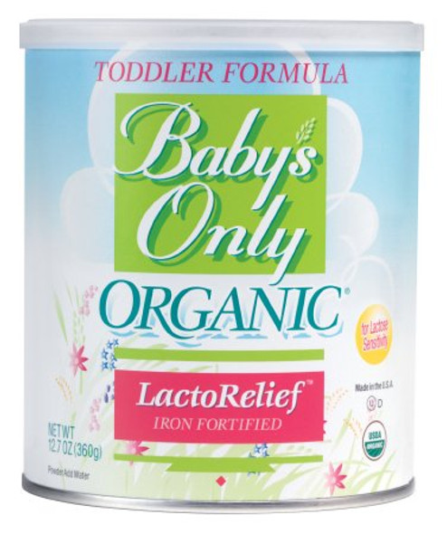 Toddler Formula Baby's Only Organic® LactoRelief Vanilla Flavor 360 Gram Can Powder BABY'S ONLY, ORGN LACTOSE FREE12.7OZ